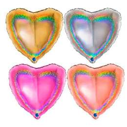 Heart 18 in Glitter Halographic